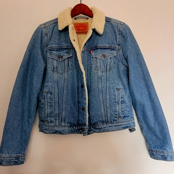 Levi's Sherpa Lined Denim Jacket sz M